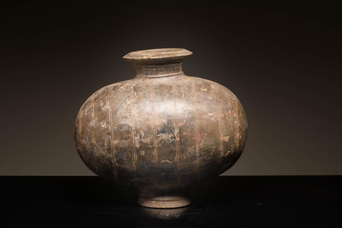Han Antique Pottery Cocoon Jar