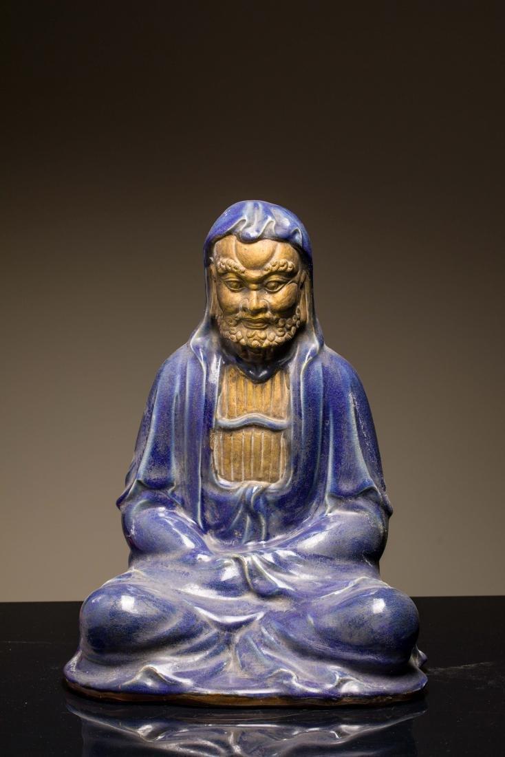 Late 19th Antique Figure: Bodhidharma (Damo)