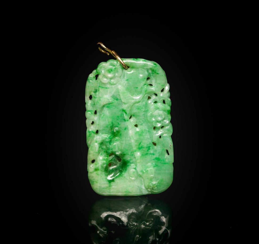 19th Antique Jade Jadeite Pendant