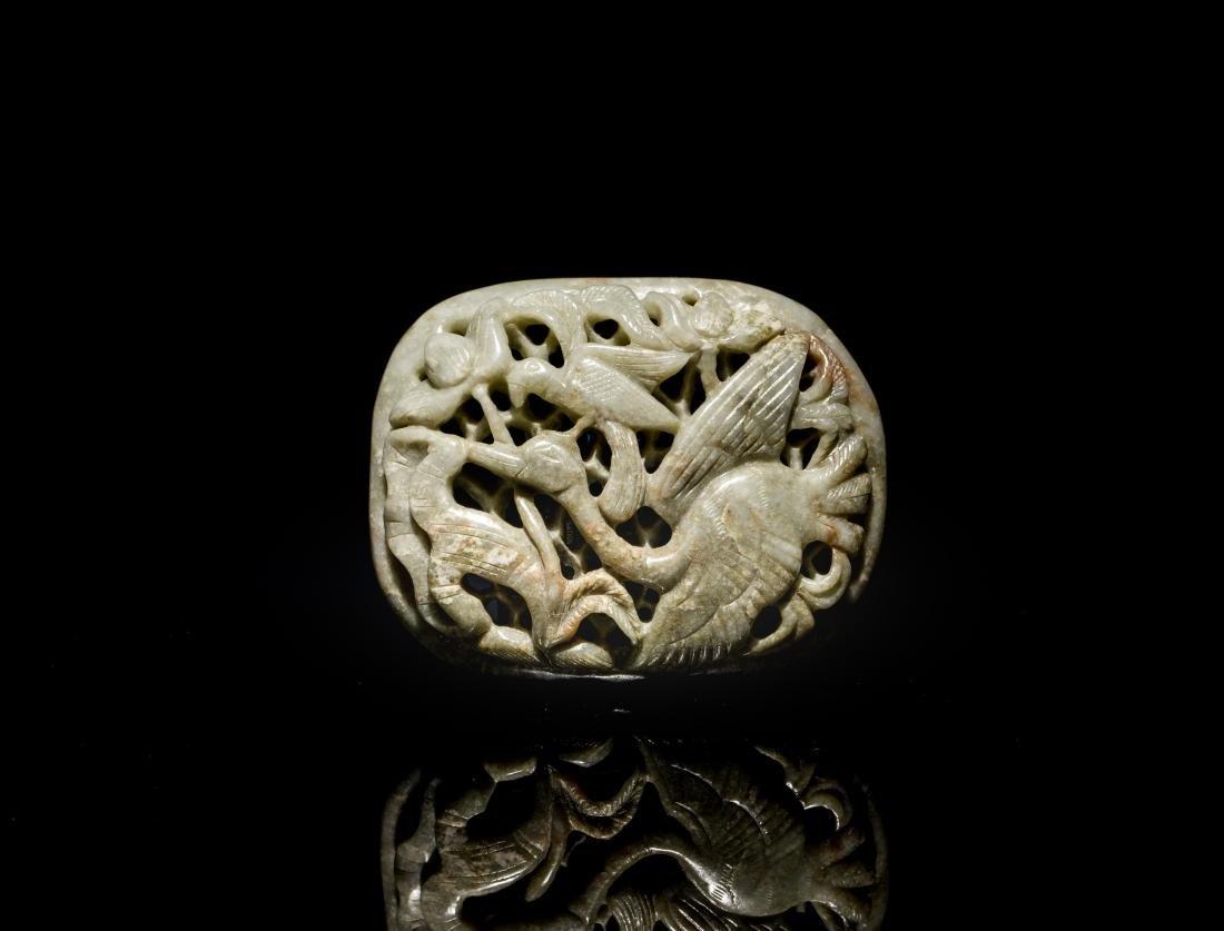Ming Antique Burnt Jade Pendant