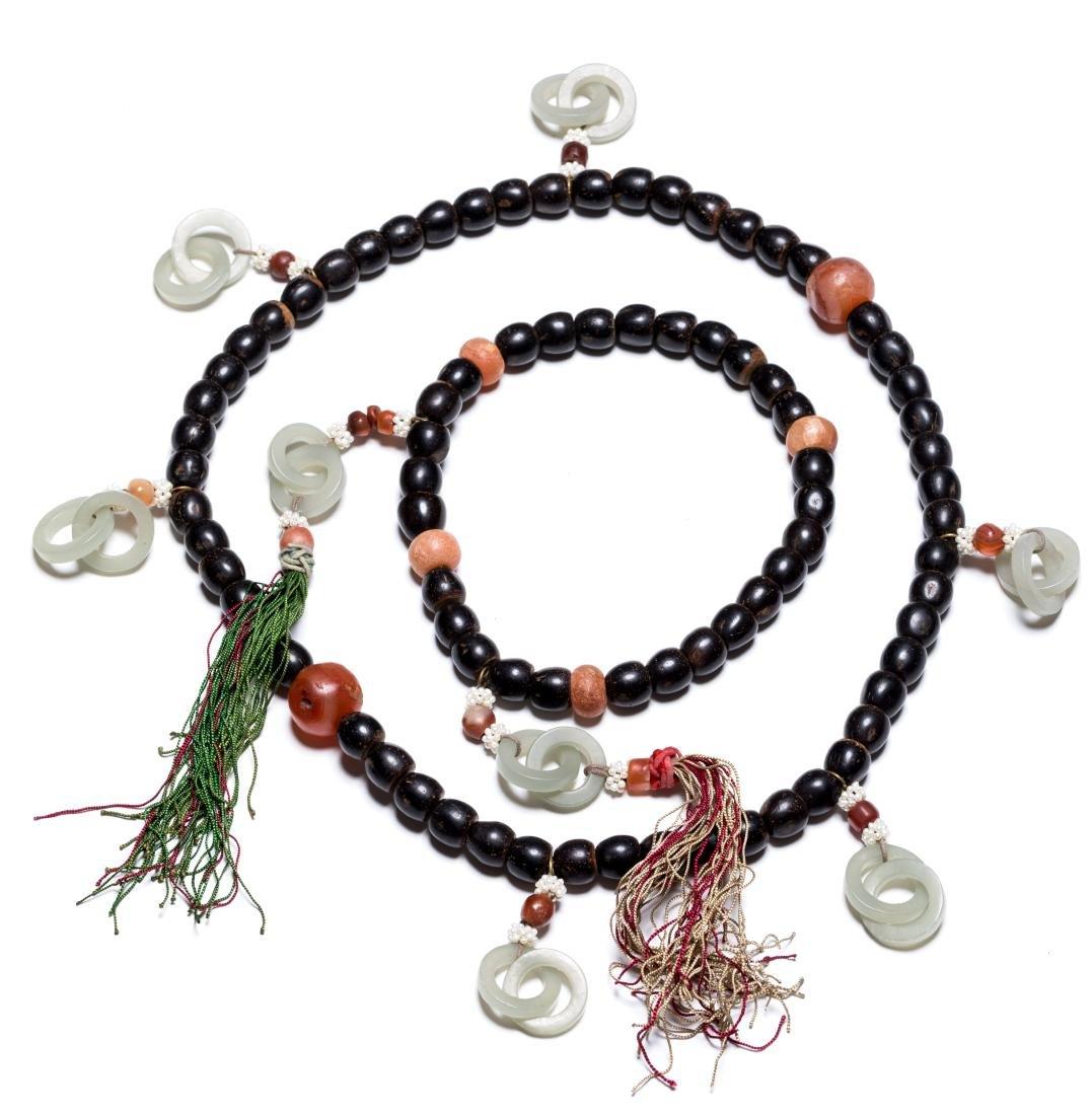 18-19th Antique Pair Black Seed Prayer Beads