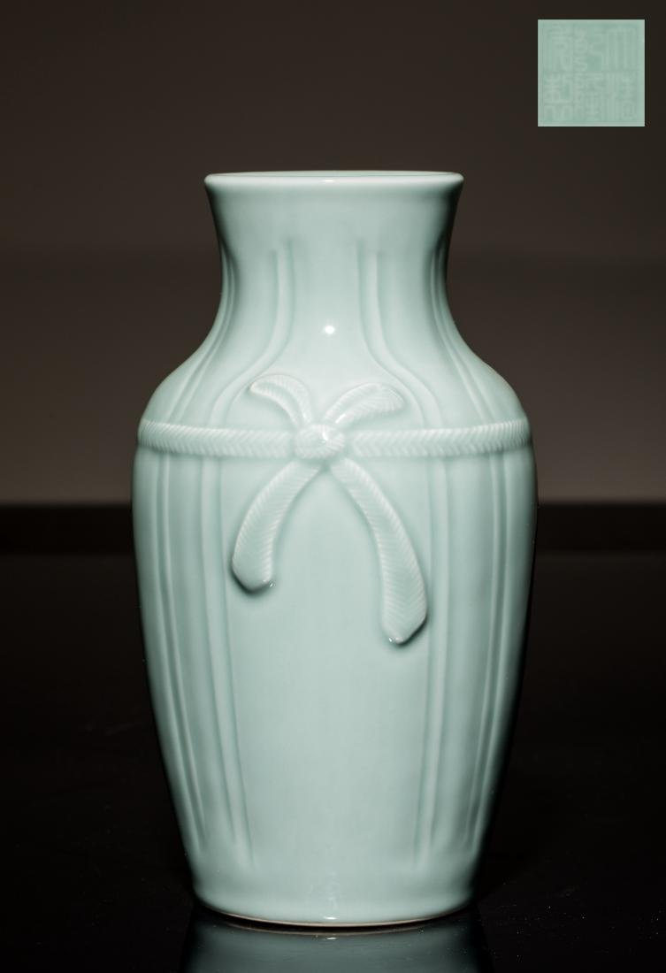 18th Antique Celadon Glazed Vase