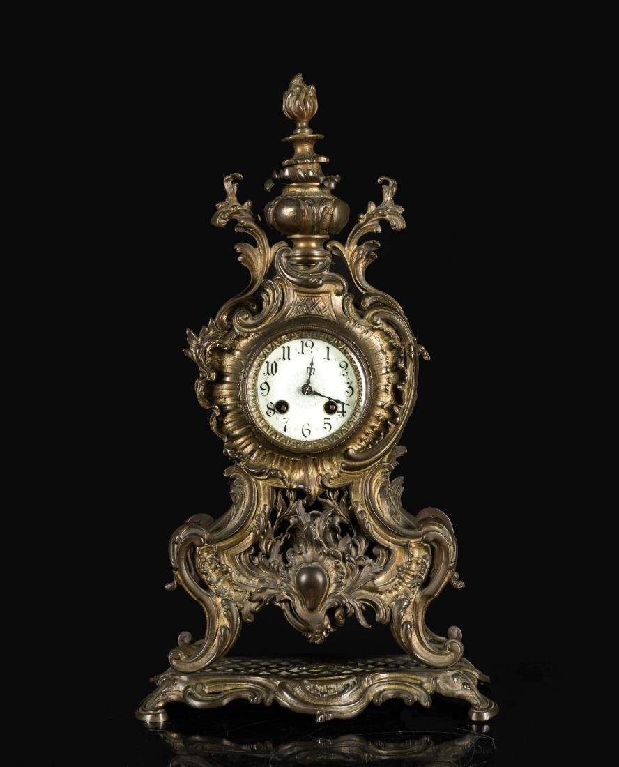 19th Italian Style Cast Bronze Mounted Clock