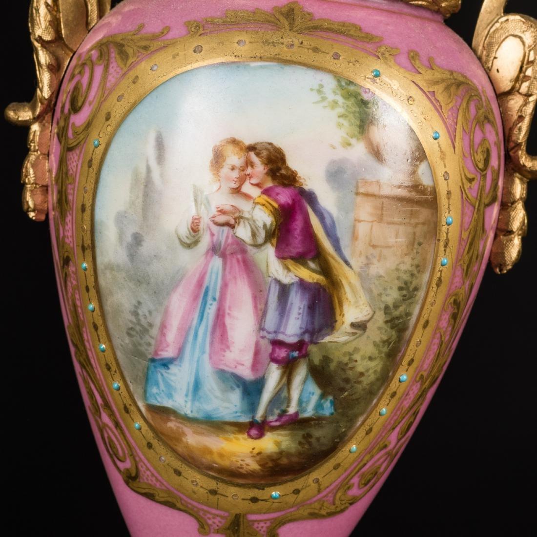 19th Antique Clock and Garniture - 7