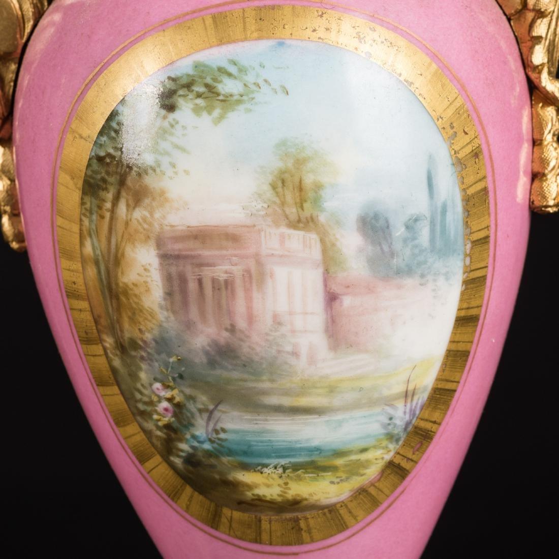 19th Antique Clock and Garniture - 8
