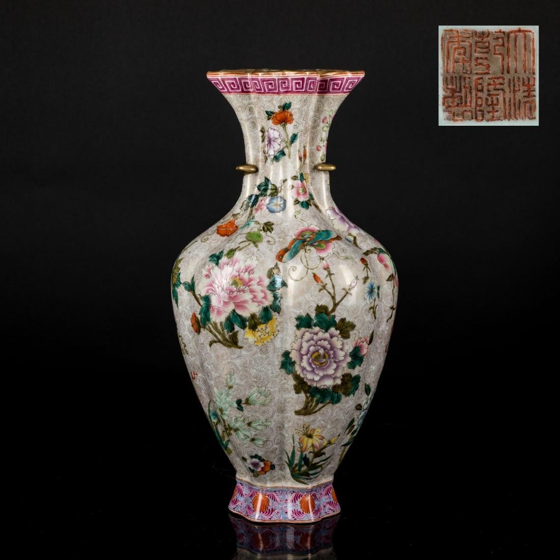 18th Antique Enameled Vase