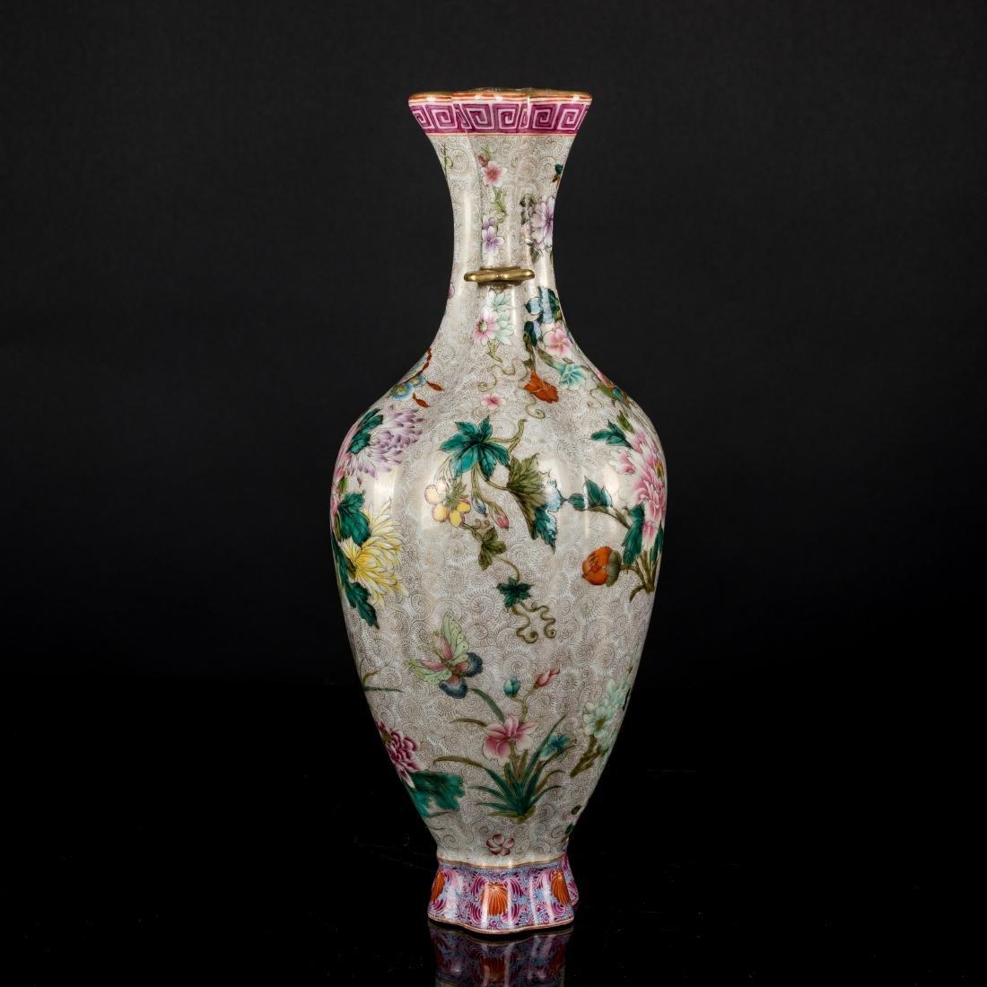 18th Antique Enameled Vase - 2