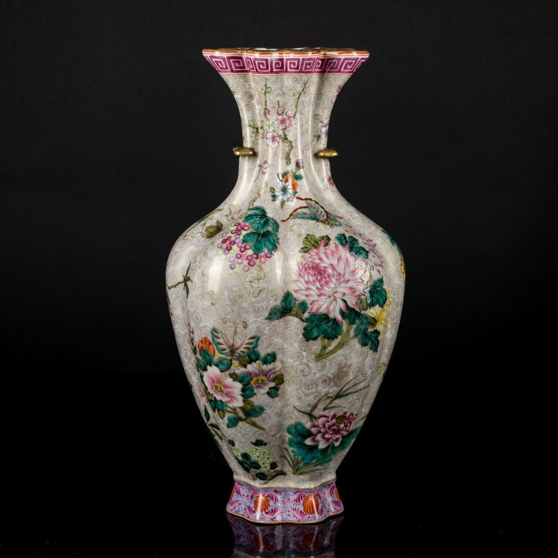 18th Antique Enameled Vase - 3