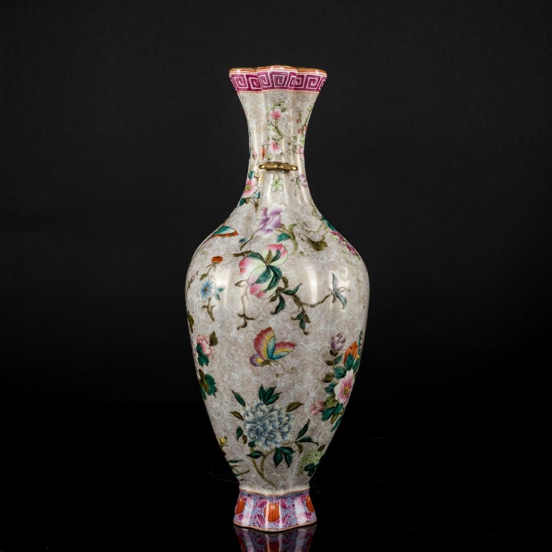 18th Antique Enameled Vase - 4