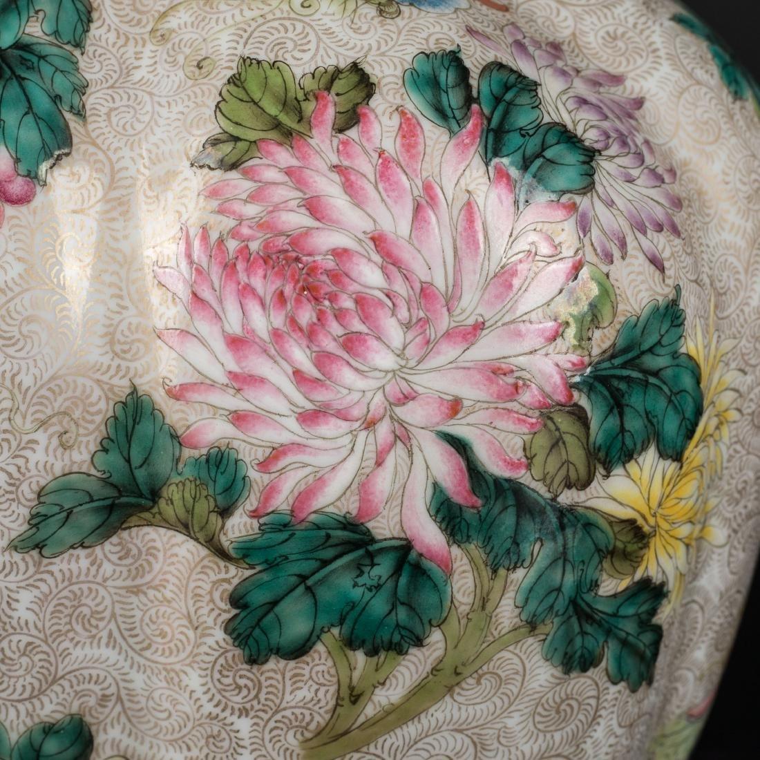 18th Antique Enameled Vase - 6