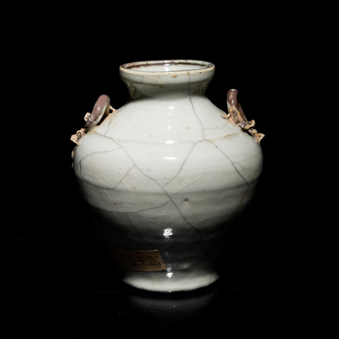 17-18th Antique Gray Glazed Vase