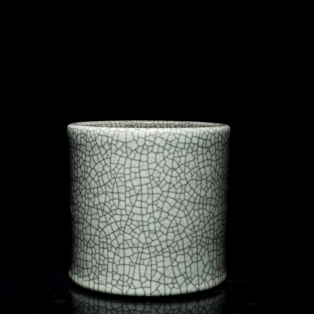 Late 19th Antique Porcelain Brush Pot