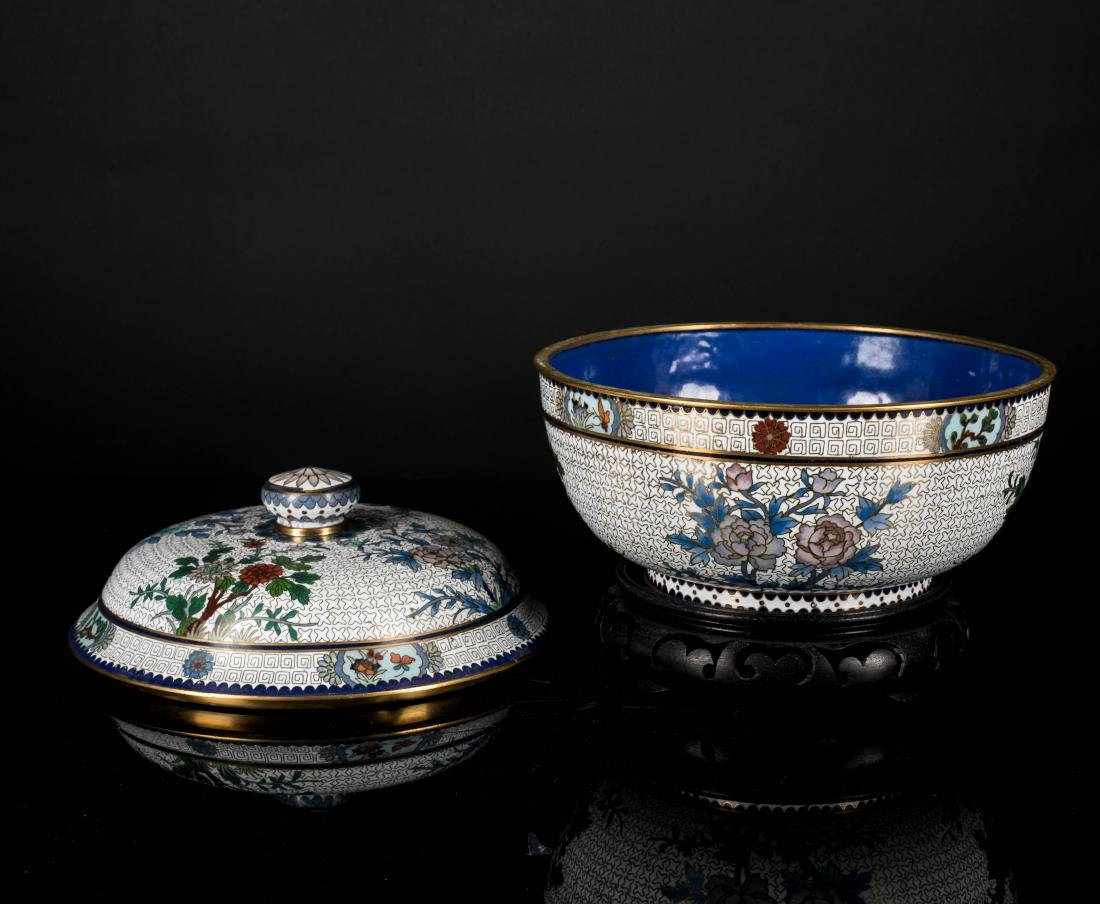 19th Antique Cloisonne Bowl - 2