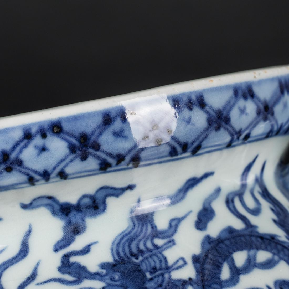 Jiajing Mark Antique Blue and White Censer - 9