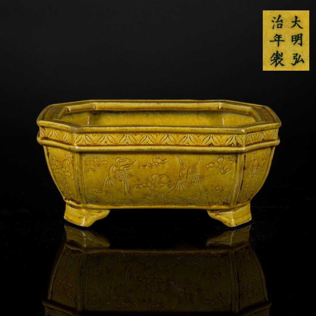 Ming Antique Yellow Glazed Censer