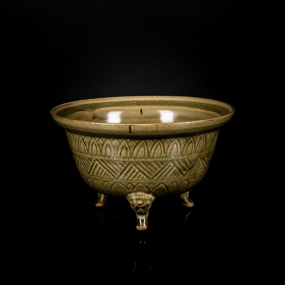 Song Antique Changsha Stoneware Celadon Censer