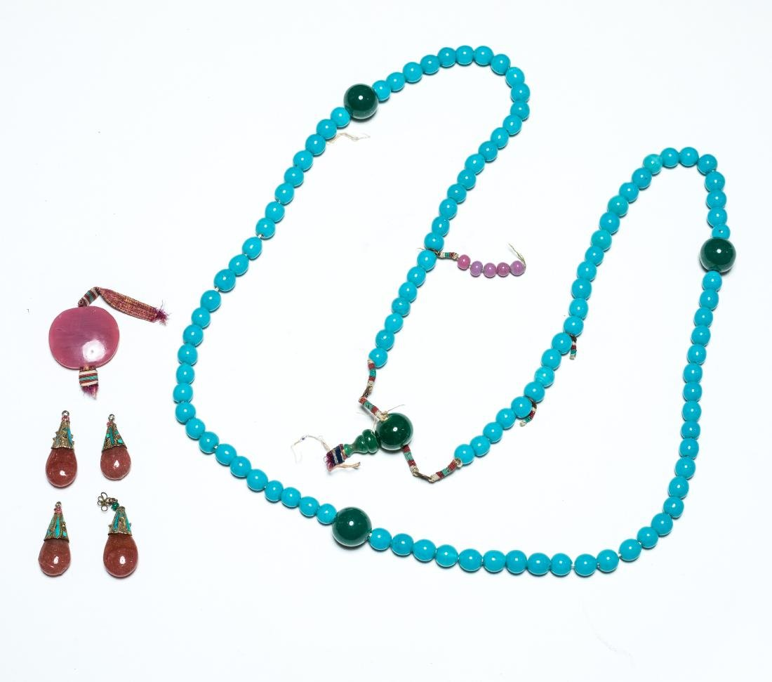 19th Antique Glass Court Beads