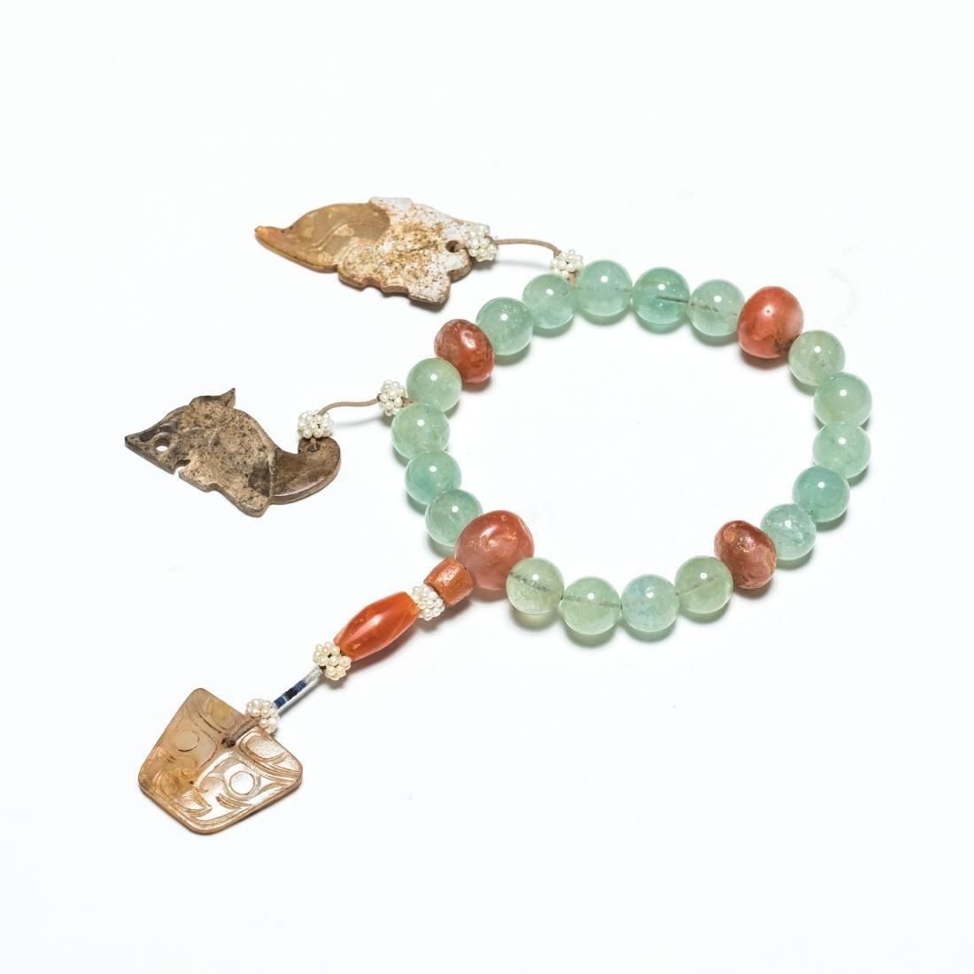 19th Antique Aquamarine Prayer Beads