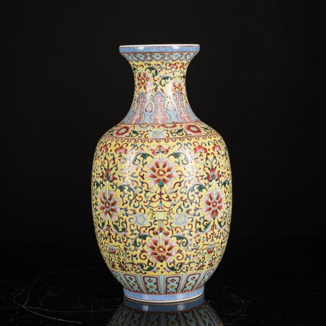 Kuangxu Copied Qianlong Porcelain Vase - 2