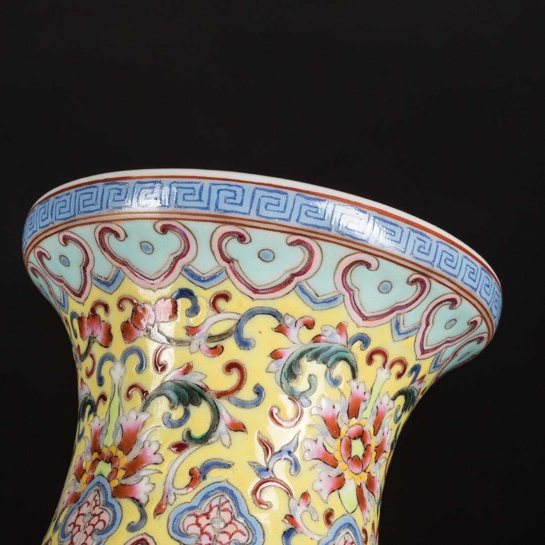 Kuangxu Copied Qianlong Porcelain Vase - 8