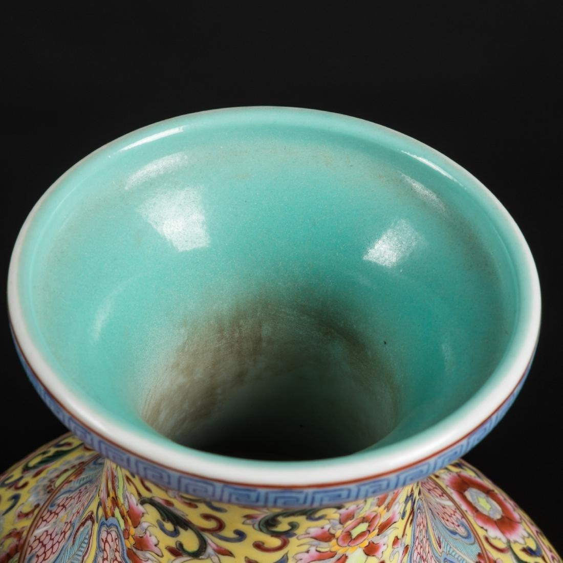 Kuangxu Copied Qianlong Porcelain Vase - 9