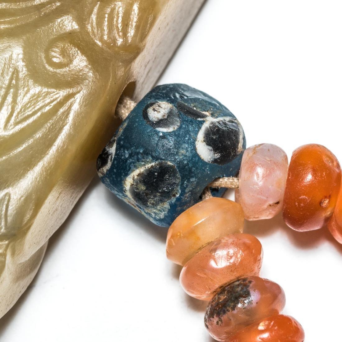 18th Antique Carved Jade Pendant - 4