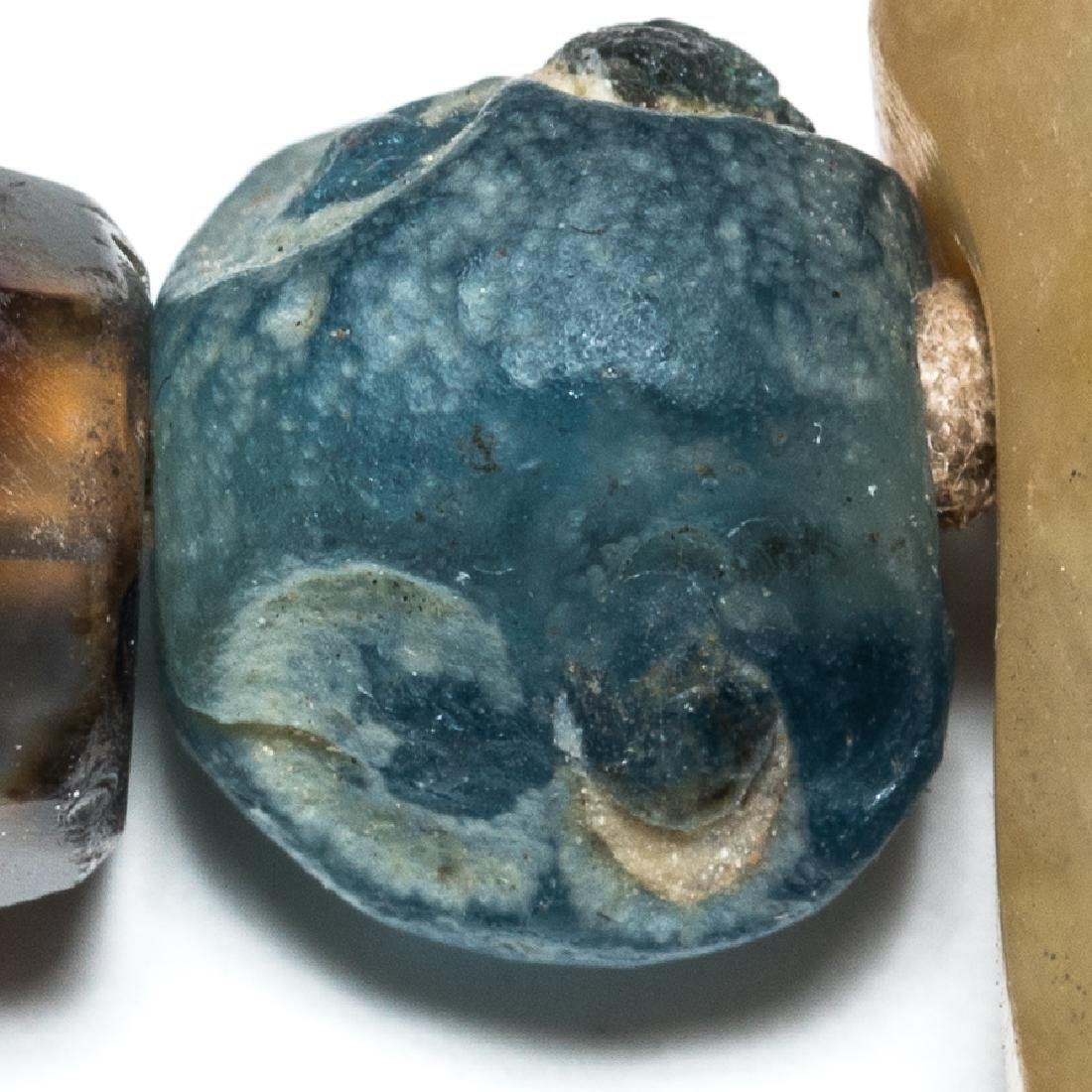 18th Antique Carved Jade Pendant - 8