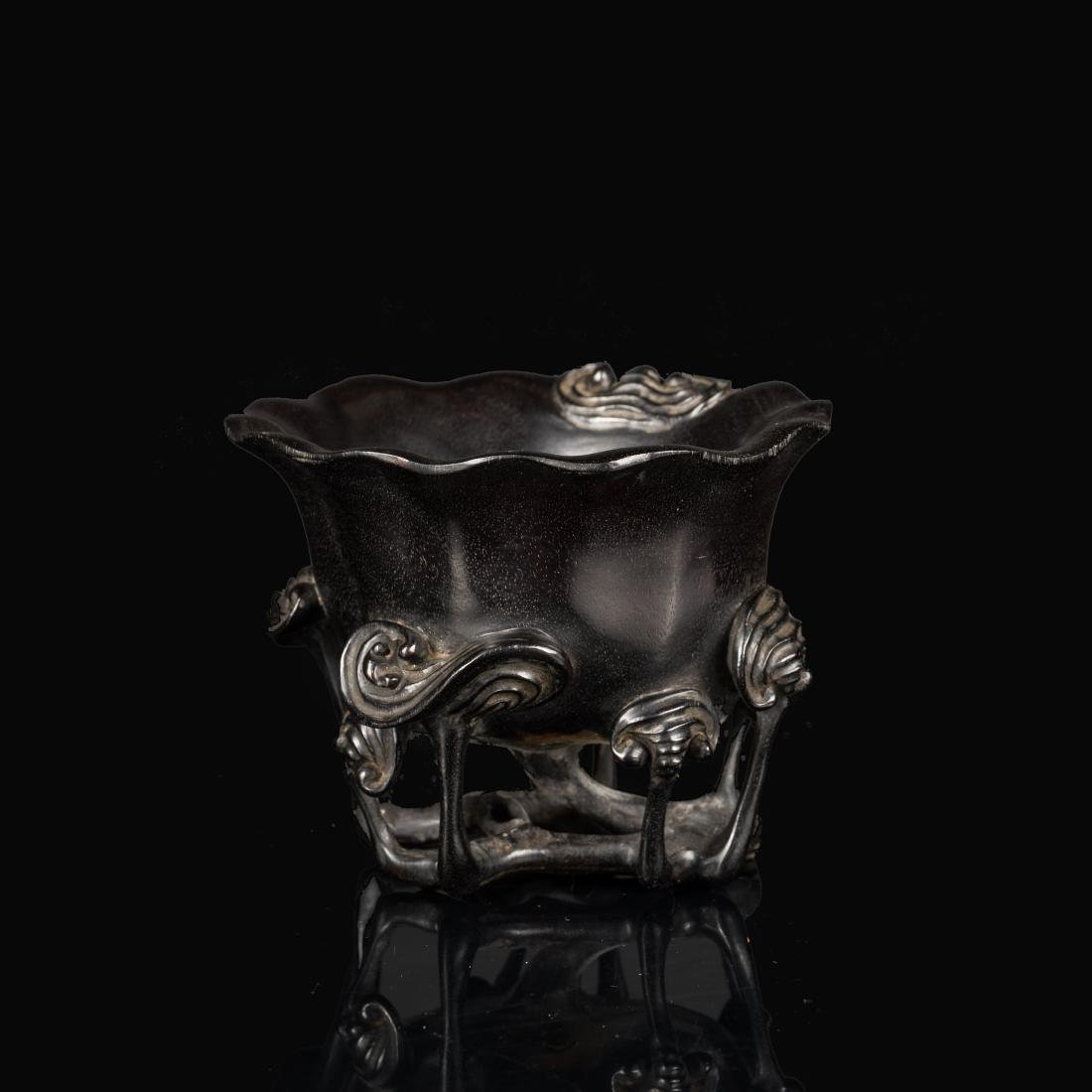19th Chinese Antique Zitan Cup