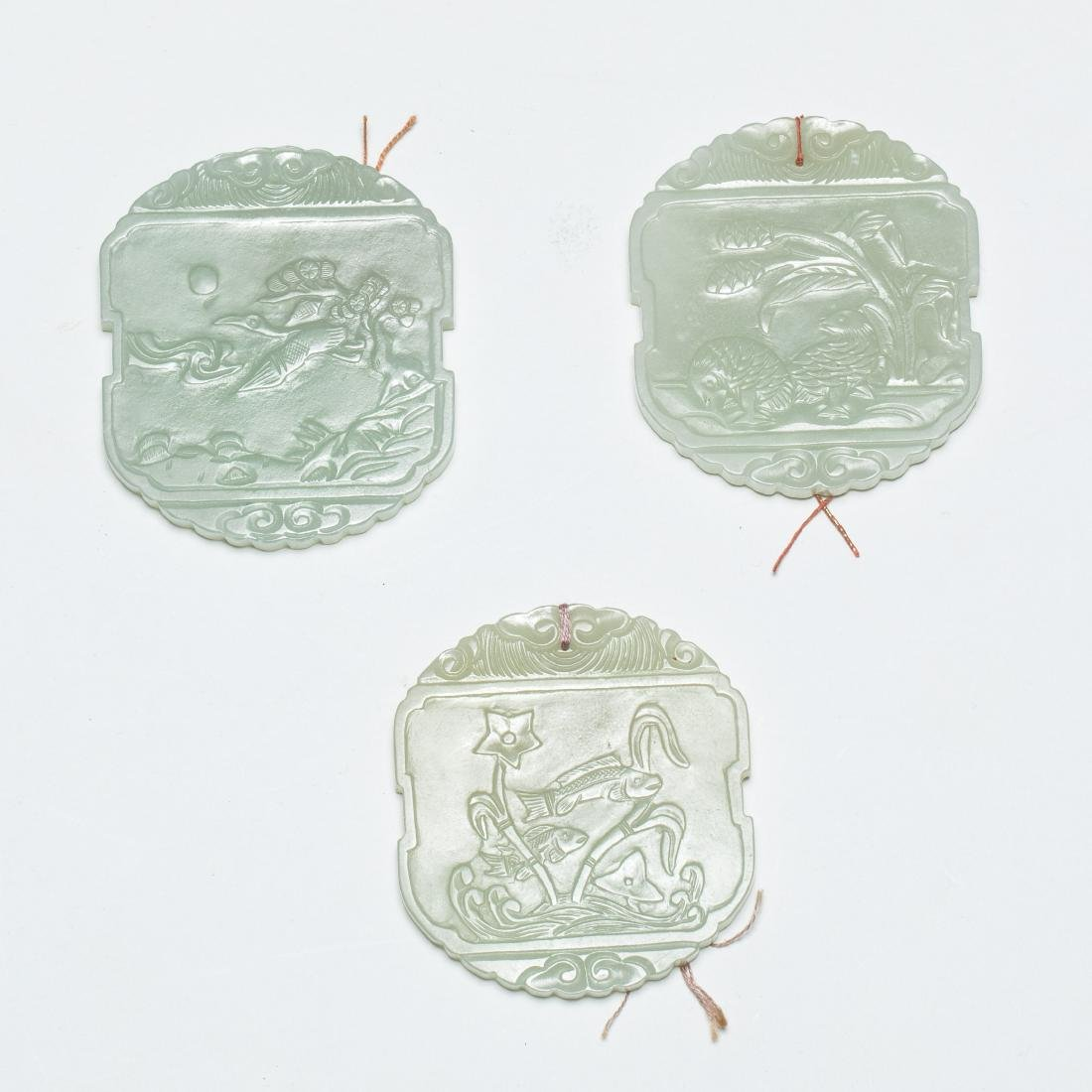 Chinese Antique Group of Jade Pendants