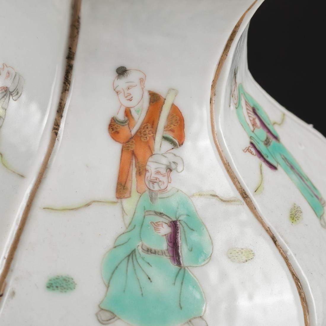 19th Antique Famille Rose Vase - 10