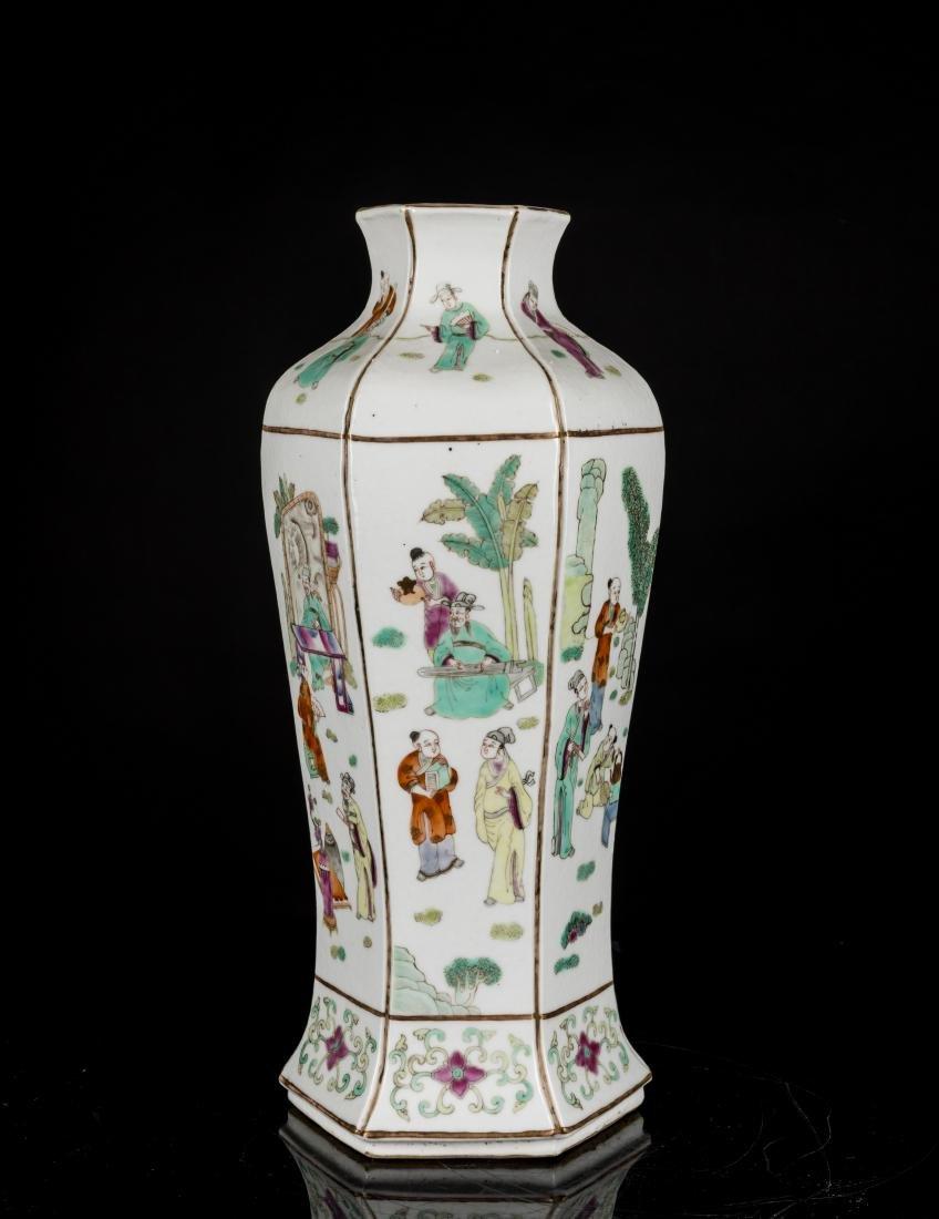 19th Antique Famille Rose Vase - 2