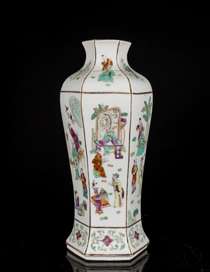 19th Antique Famille Rose Vase - 3