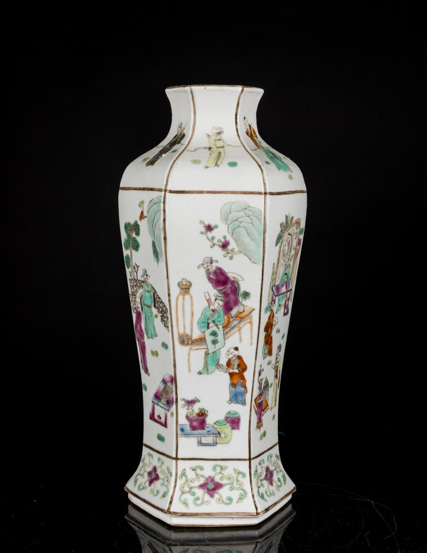 19th Antique Famille Rose Vase - 4