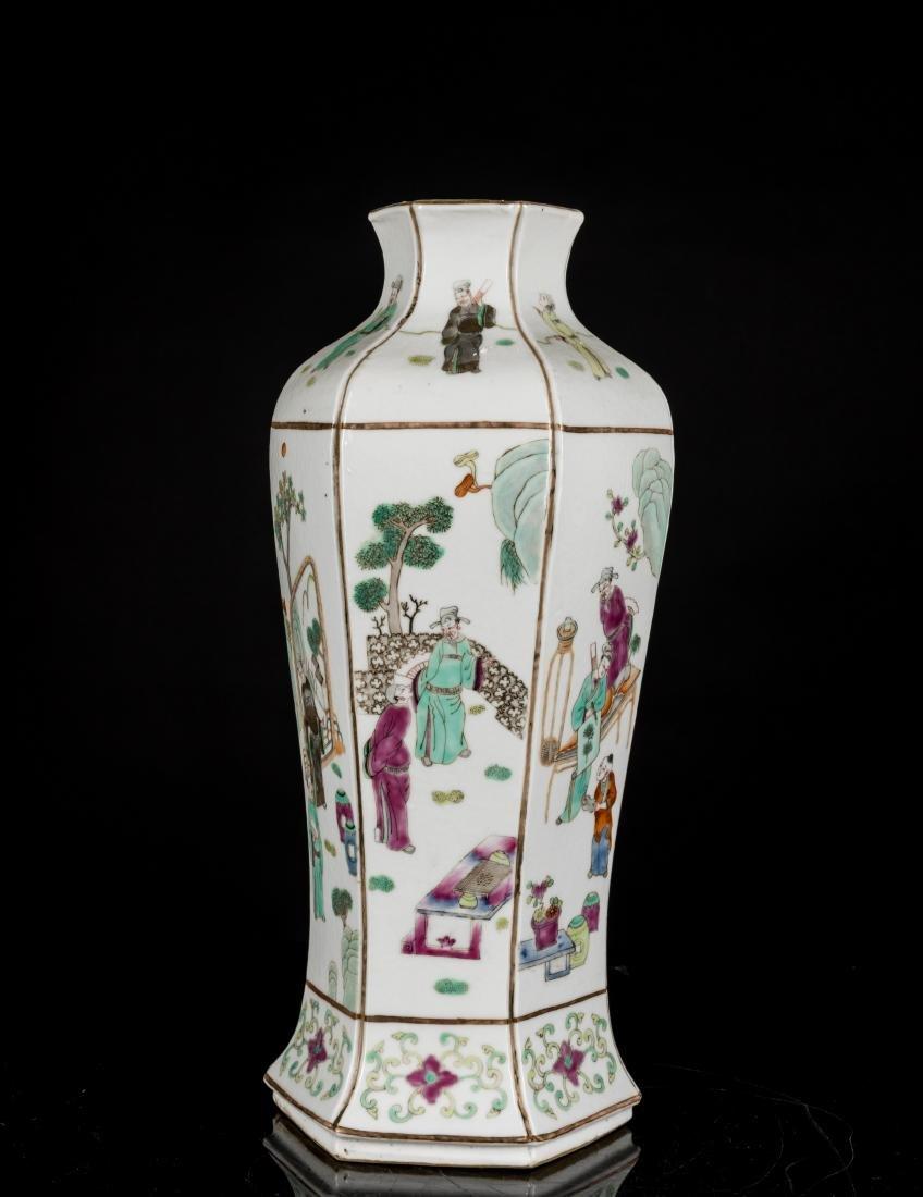 19th Antique Famille Rose Vase - 5