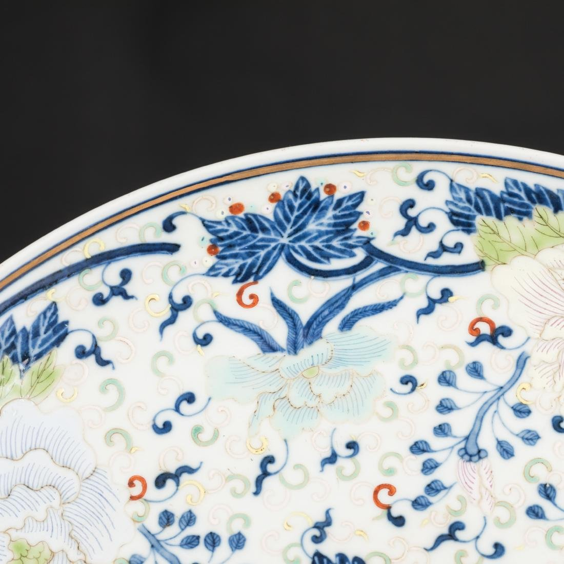 19th Antique Famille Rose Plate - 5