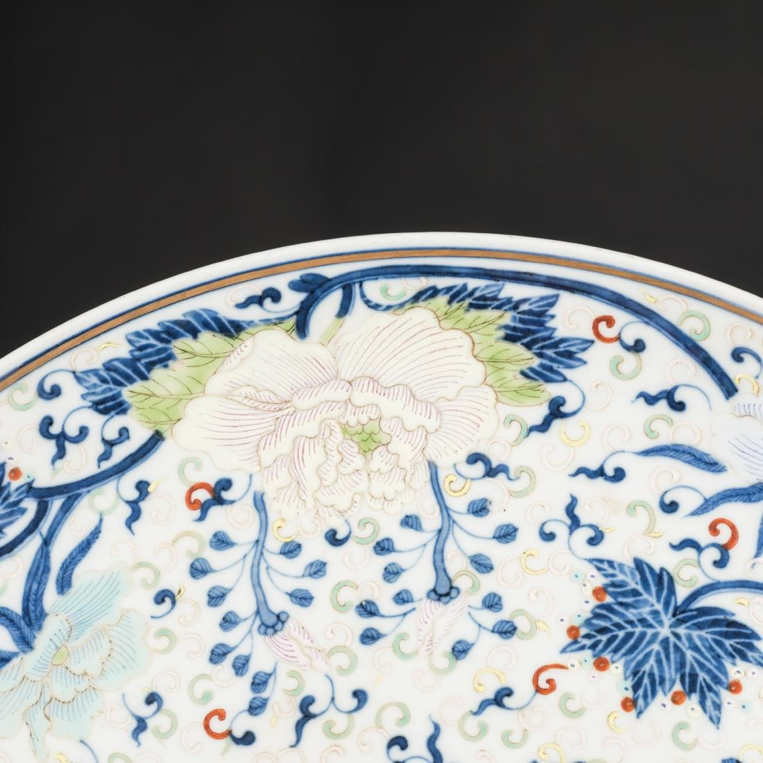 19th Antique Famille Rose Plate - 6