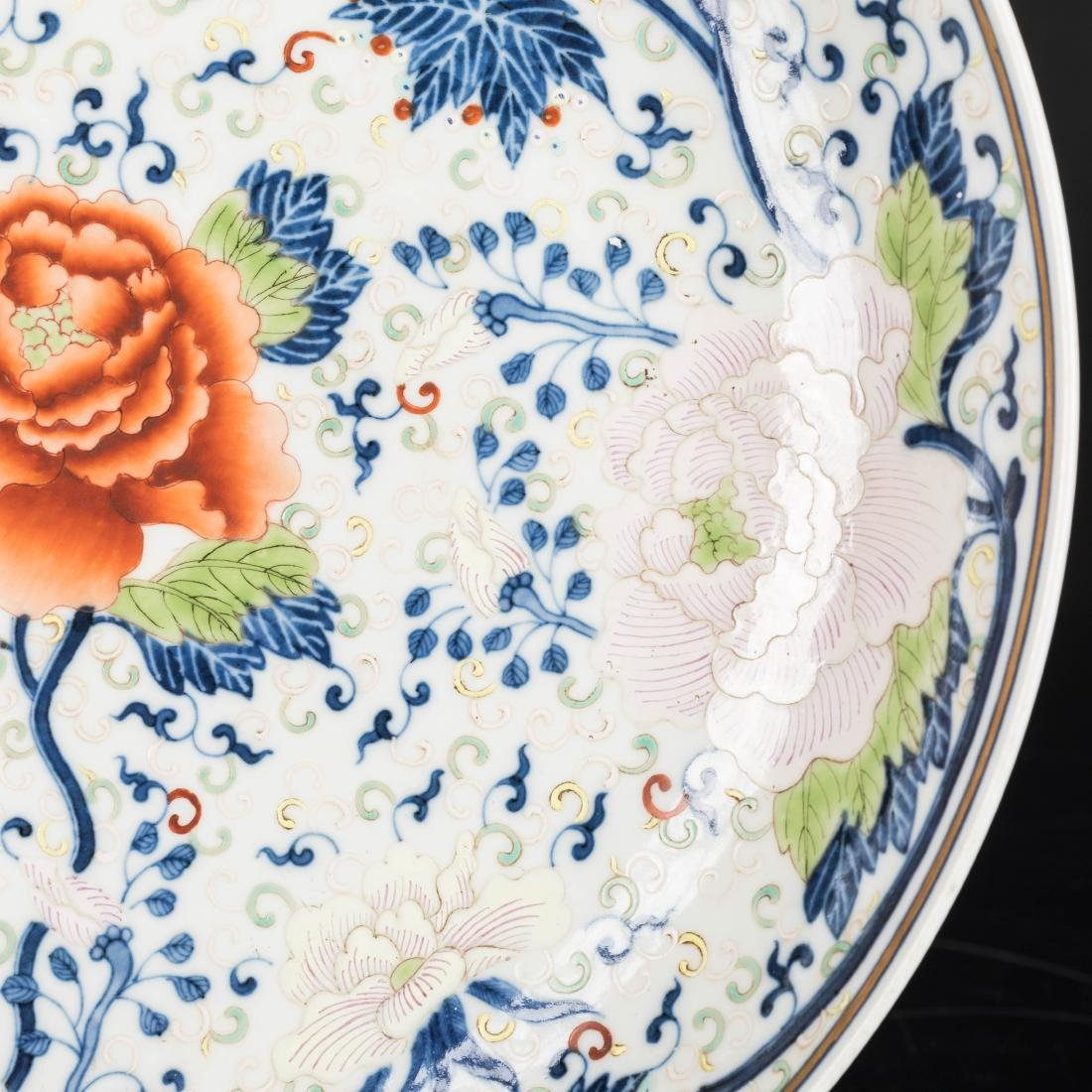19th Antique Famille Rose Plate - 7