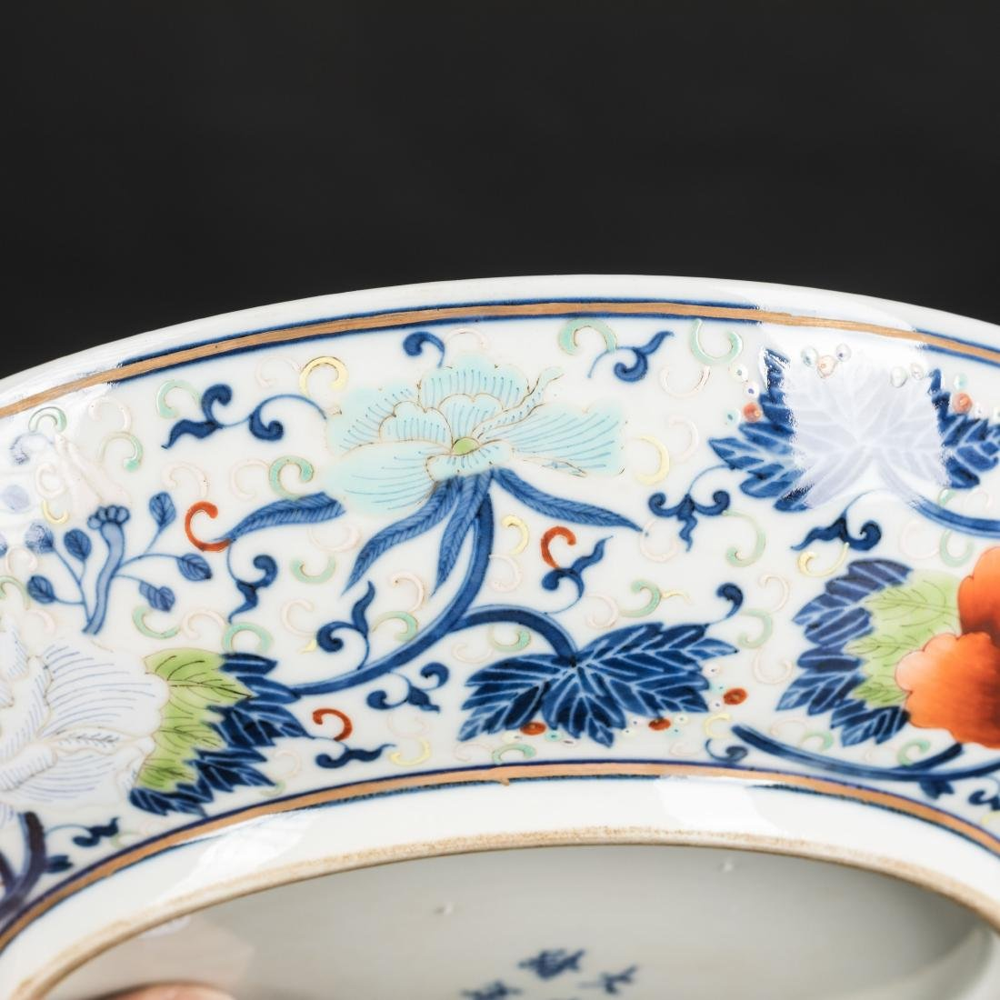 19th Antique Famille Rose Plate - 8