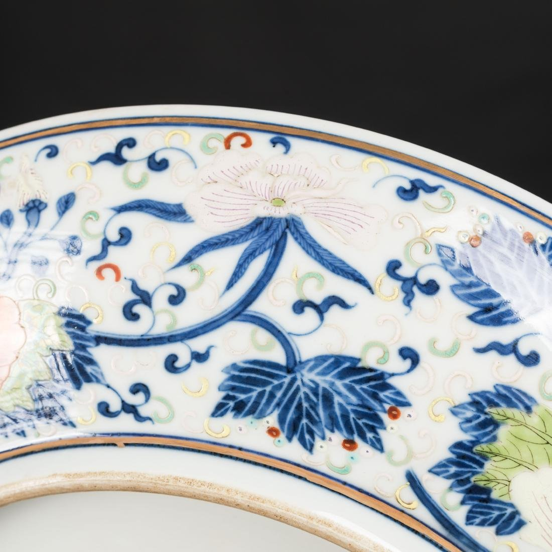 19th Antique Famille Rose Plate - 9
