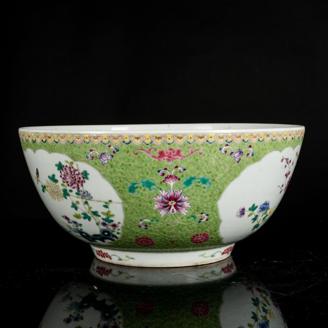 19th Antique Famille Rose Large Bowl - 2