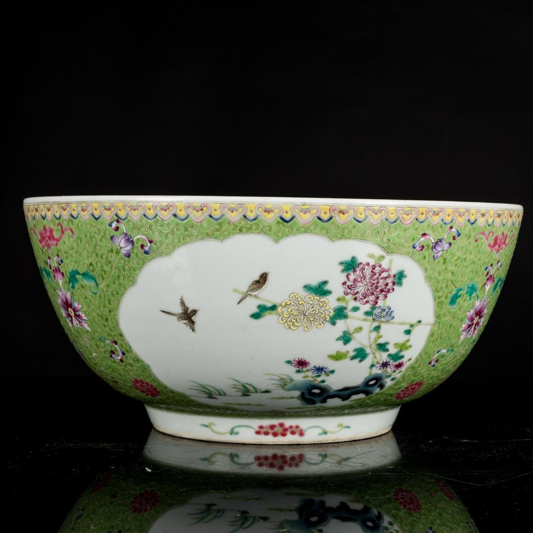 19th Antique Famille Rose Large Bowl - 3