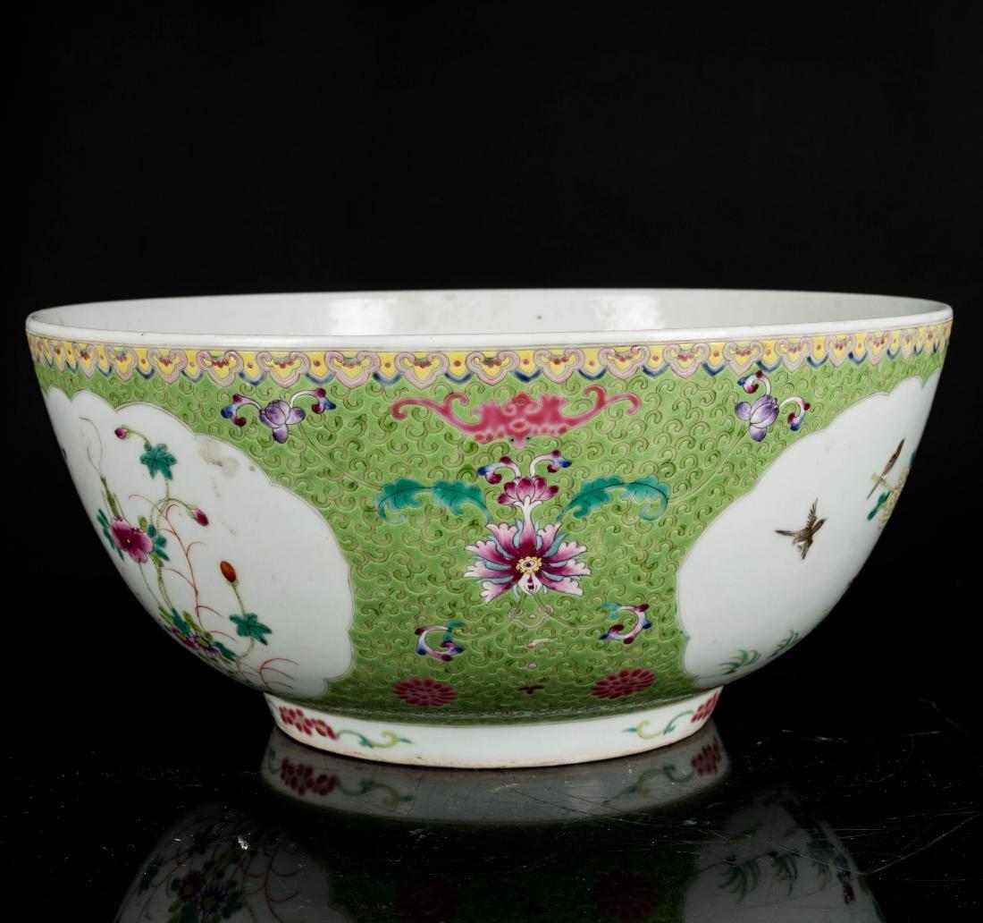 19th Antique Famille Rose Large Bowl - 4