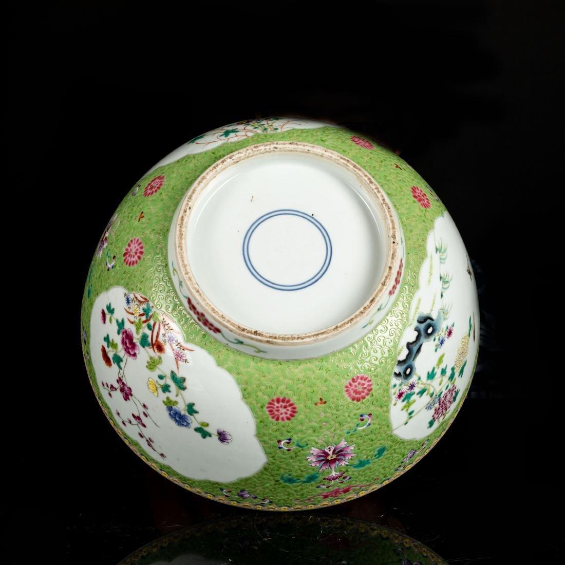 19th Antique Famille Rose Large Bowl - 5