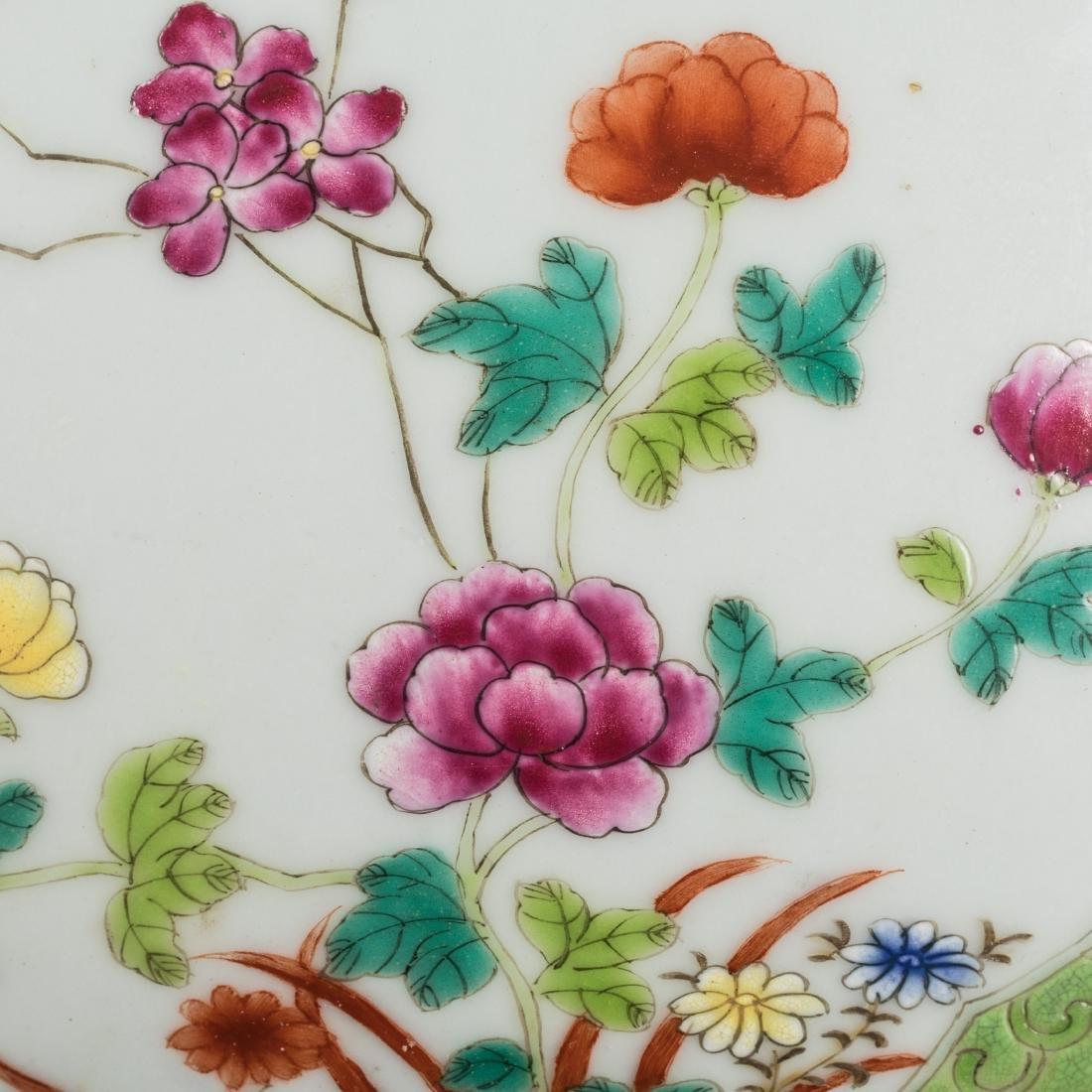 19th Antique Famille Rose Large Bowl - 9