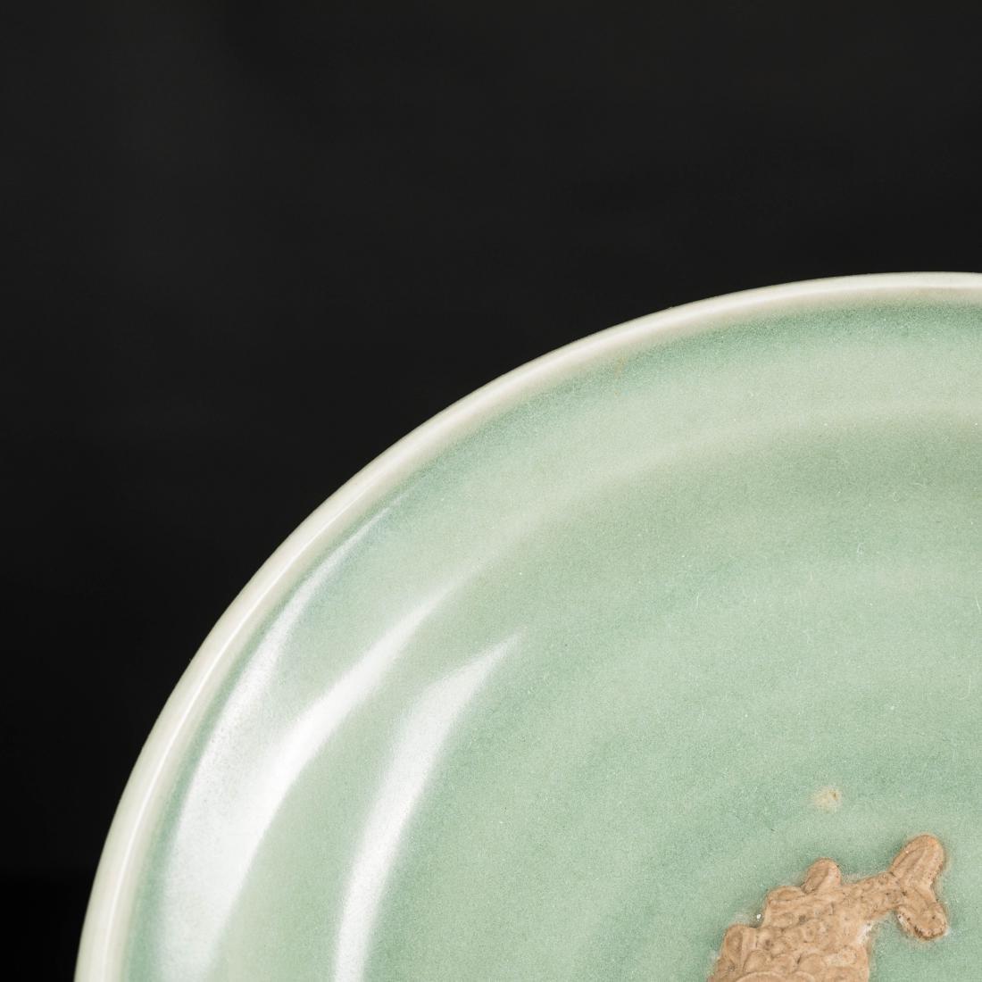 Ming Antique Longquan Dish - 5