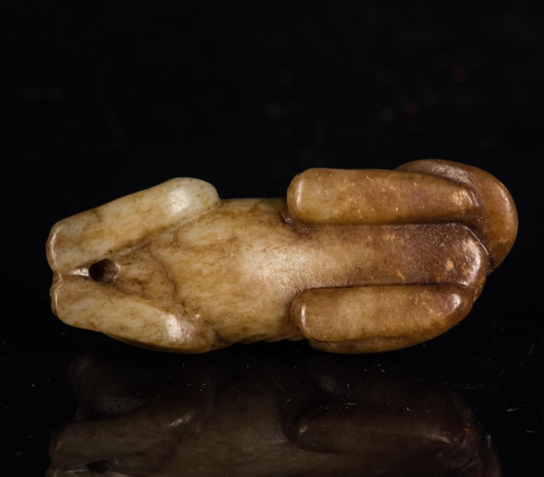 Yuan-Ming Dynasty Brown Jade Beast - 5