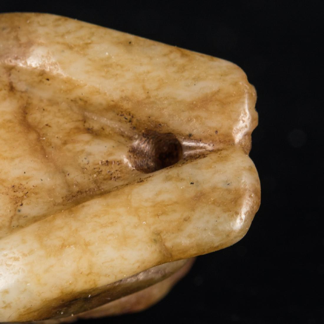Yuan-Ming Dynasty Brown Jade Beast - 8