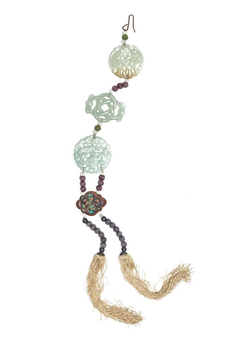 19th Manchu Style Antique Jade Pendant