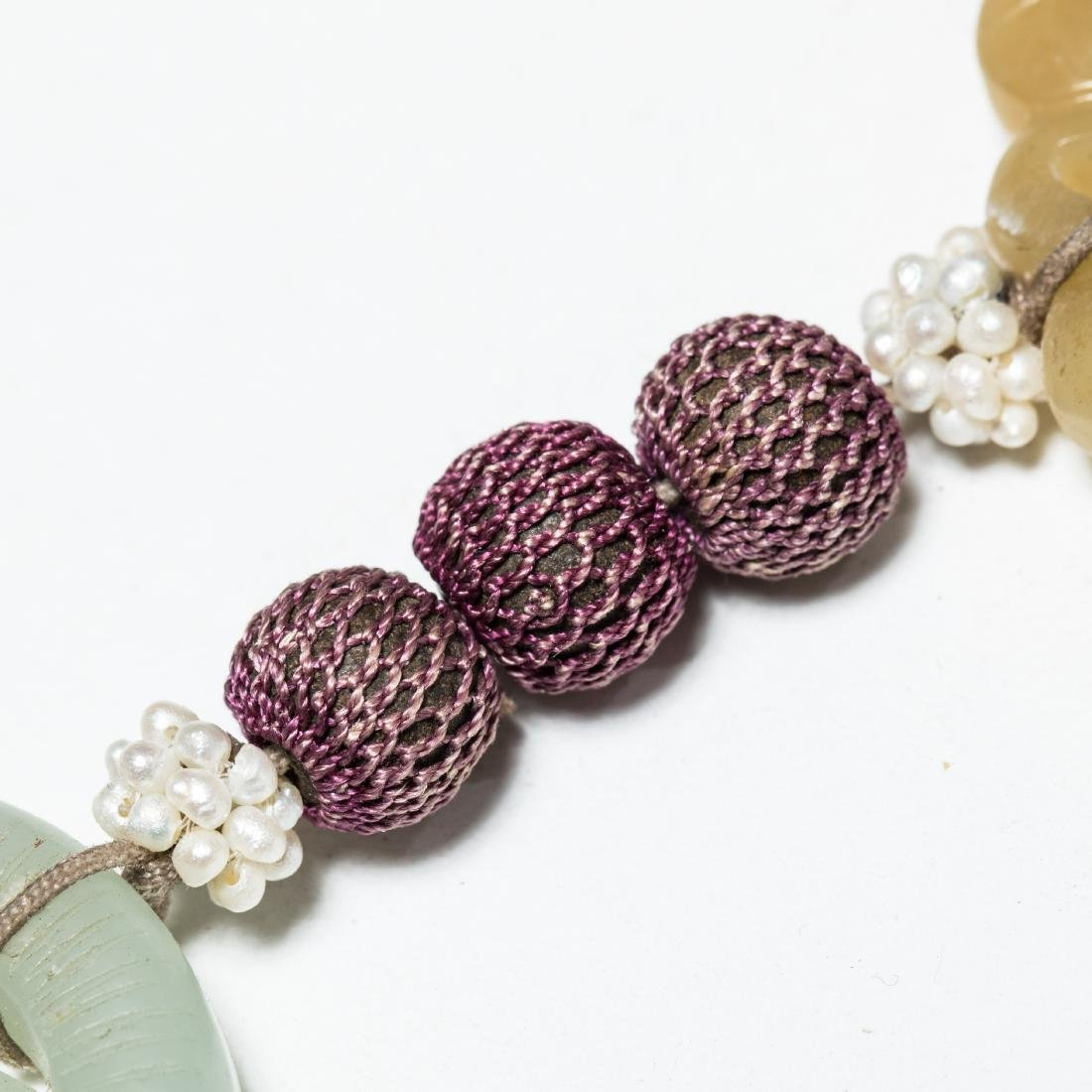 19th Manchu Style Antique Jade Pendant - 8