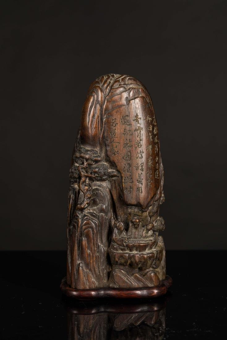 19th Antique Agarwood Carved Statue